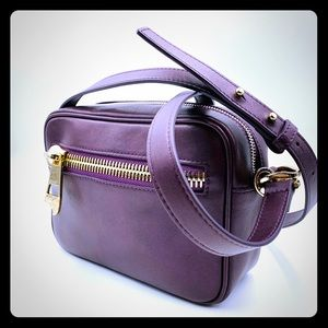 Versace plum leather bag, like new